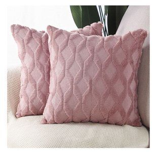 Luxury Style Cushion Case Pillow Shell for Sofa Bedroom Pink
